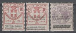 ITALIE (1924):  LOT De 3 Timbres ** Semi-officiels (service)        - Cote 50€ (Unificato) - - Mint/hinged