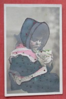 RPPC  Color Tinted Glitter & Stones Added  Young Girl   Ref   3602 - Fashion