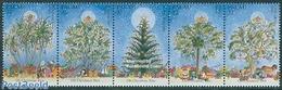 Palau 1996 Christmas 5v [::::], (Mint NH), Transport - Ships And Boats - Nature - Horses - Shells & Cor.. - Badminton