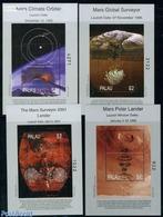 Palau 1999 Mars Exploration 4 S/s, (Mint NH), Transport - Space Exploration - Palau
