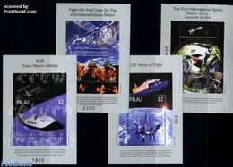 Palau 1999 Space Station 4 S/s, (Mint NH), Transport - Space Exploration - Palau