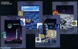 Palau 1999 Moonlanding 4 S/s, (Mint NH), Transport - Space Exploration - Palau