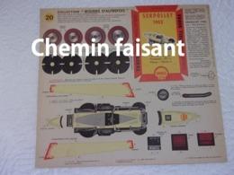 SHELL BERRE - BOLIDES D'AUTREFOIS Carton Prédécoupé Shell N°20 SERPOLLET 1902 - Carton / Lasercut