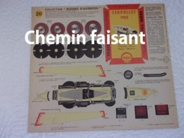 SHELL BERRE - BOLIDES D'AUTREFOIS Carton Prédécoupé Shell N°20 SERPOLLET 1902 - Kartonnen Modellen / Lasercut