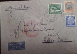 O) 1938 GERMANY, AIRSHIP GONDOLA SC C60 50pf - COUNT FERDINAND VON ZEPPELIN, PRES. VON HINDENBURG, MIT DEUTFCHE LUFTPOST - Germany