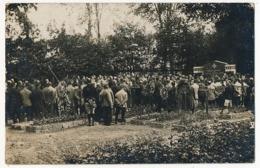 CPA - Camp De HAMMELBURG - Obsèques - Foule Dans Un Cimetière - Censure Du Camp Au Dos - War 1914-18