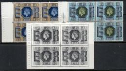 GB 1977 QEII Silver Jubilee 2x Booklet Panes + Black Print MUH - Unused Stamps