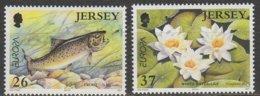 Jersey Europa 2001 N° 984/ 985 ** L'eau - Europa-CEPT