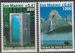 Saint-Marin Europa 2001 N° 1757/ 1758 ** L'eau - 2001