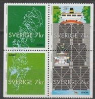 Suede Europa 2001 N° 2214 à 2217 ** L'eau - 2001