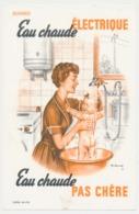 Buvard 13.6 X 21  Eau Chaude électrique Eau Chaude Pas Chère  Maman Cuisine Douche Bébé Illustrateur Ch. Lemmel - Electricity & Gas