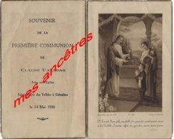 En 1936 Communion Claude Valade à Colombes - Communion