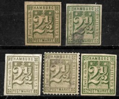625 - HAMBURG - 1860-65 - OLD REPRINTS, FORGERIES, FALSES, FALSCHEN, FAKES, FALSOS - Stamps