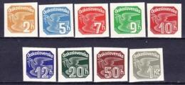 ** Tchécoslovaquie 1937 Mi 364-72 (Yv TPJ 17-25), (MNH) - Newspaper Stamps