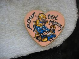 """Pin's En Forme De Coeur Avec L'inscription """"Pour Toi Mamy - Pin"""