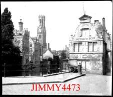 Plaque De Verre - Maison H. MESTDACH DE BECKER à BRUGES Flandre Occidentale - Scans Négatif-Positif - Plaques De Verre