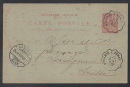 AMBULANT DOULLENS A ARRAS / 1902 ENTIER POSTAL POUR LA SUISSE (ref LE155) - Francia