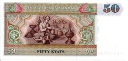Myanmar Billet Banknote 50 Fifty Kyats Poterie - Myanmar