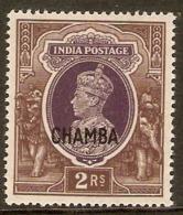 INDIA - CHAMBA 1942 2R SG 103 MINT NEVER HINGED Cat £24 - Chamba