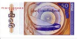 Myanmar Billet Banknote 50 Fifty Kyats - Myanmar
