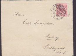 Germany Deutsches Reich 'Petite' DARMSTADT 1893 Cover Brief MARBURG Bez. Cassel (Arr. Cds.) 10 Pf. Adler Eagle - Briefe U. Dokumente