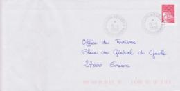 Lettre 2000 TàD Manuel COLLEGE STE CECILE 28 CHATEAUDUN AP Gérance Gratuite Sur Marianne De Luquet Jumelet - Cachets Manuels