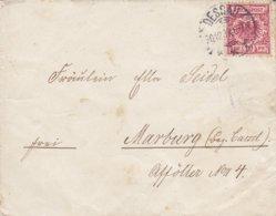Germany Deutsches Reich 'Petite' DESSAU 1899 Cover Brief MARBURG Bez. Cassel (Arr. Cds.) 10 Pf. Adler Eagle - Briefe U. Dokumente