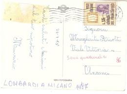 1962 £15 GIORNATA DEL FRANCOBOLLO SU CARTOLINA MILANO PIAZZA DELLA SCALA - Giornata Del Francobollo