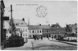 ANTOING : La Place Du Préau - Belle Animation - 1908 - Antoing