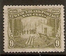 NEWFOUNDLAND 1910 9c SG 102 FINE USED Cat £110 - Neufundland