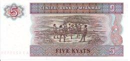 Myanmar Billet Banknote 5 Five  Kyats CS 8228738 - Myanmar