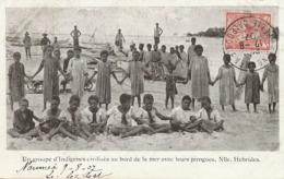 Indigènes Civilisés .. Et Leurs Pirogues Nlles Hebrides  P. Used Noumea Vers Luxembourg - Vanuatu