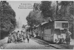 BONSECOURS : Route De Condé - Tramway Français - Très Belle Animation -1919 - Péruwelz