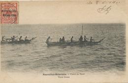 Nlles Hebrides Canot De Vaow  P. Used Timbre Caledonie Surchargé Vers Orthevielle Landes Thiebaux - Vanuatu