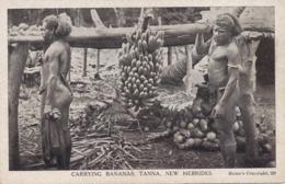 Nlles Hebrides Tanaa Carrying Bananas Indigenes Nus - Vanuatu