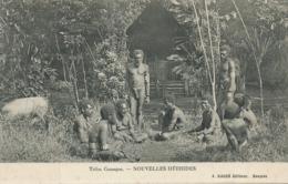 Nlles Hebrides Tribu Canaque Groupe Hommes Nus Photo Raché Nouméa - Vanuatu