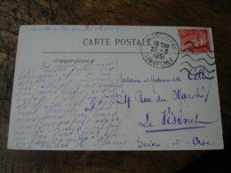 Flamme Liges Ondulees Courtes Mondoubleau - Storia Postale