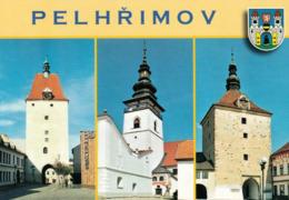 1 AK Tschechien * 2 Stadttore Und Die Kirche Des Heiligen Bartholomäus In Der Stadt Pelhřimov (deutsch Pilgram) * - Tchéquie