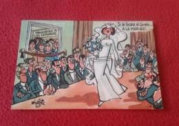 POSTAL POST CARD MINGOTE DIBUJO HUMORÍSTICO SERVICIO NACIONAL DE LOTERÍAS. MANIQUÍ BODA WEDDING CARTOON CARICATURAS VER - Humor