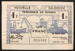 NOUVELLE CALEDONIE NEW CALEDONIA 1+2 FRANC NOUMEA 1943 WWII Pick#55-56 Lotto.2762 - Andere