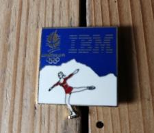 Pin's / Pins / Thème : Jeux Olympiques / Patineuse Sur Glace / ALBERTVILLE 92 / I.B.M. - Jeux Olympiques