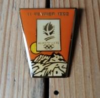 Pin's / Pins / Thème : Jeux Olympiques / ALBERTVILLE 92 / 11 FEVRIER 1992 - Jeux Olympiques