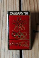 Pin's / Pins / Thème : Jeux Olympiques / CALGARY 88 / Coca Cola - Jeux Olympiques