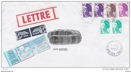 L4J203 Lettre PA Recommandée  AR 24,70f  Fort De France Pour Nanterre  26 06 1987/ Env. - 1982-90 Liberty Of Gandon