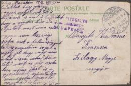 Turquie / Hongrie 1916. Occupation De La Turquie Par Les Troupes Hongroises. Feldpost, Cachet En Turc Lettres Arabes - 1858-1921 Empire Ottoman