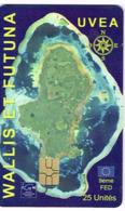 Wallis Futuna Telecarte Publique Prepayee Phonecard Telecard Prepaid Puce 25 WF Carte Uvea Fed Non Numérotée Ut - Wallis En Futuna