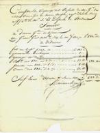 1811  NANTES  Haranchipy NEGOCE NAVIGATION COMPTE DE VENTE RESINE  => Dupuch Armateur Bordeaux - 1800 – 1899