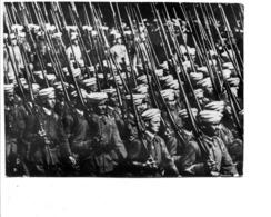 PHOTO PARIS 1938 DEFILE DES TIRAILLEURS MAROCAINS - Militari
