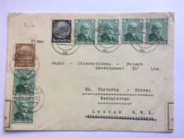 GERMANY 1936 Cover Berlin To London England With Censor Tape - Deutschland