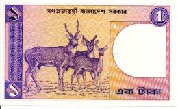 Bangladesh Billet Banknote 1 Taka Animal Cerf TBE - Bangladesh